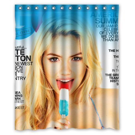 Deyou Kate Upton Gq Icecream Shower Curtain Polyester Fabric Bathroom Shower Curtain Size 60X72 Inches