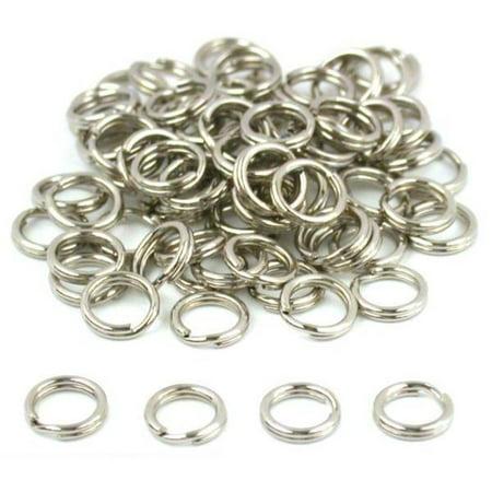 100 Split Ring Parts Charms Bracelets Fishing Lures