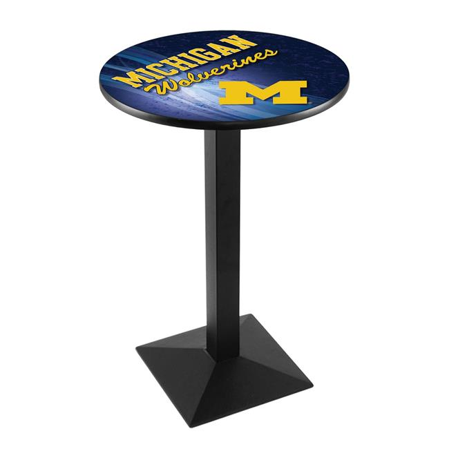 Holland Bar Stool L217B4236MichUn-D2 42 in. Michigan Wolverines Pub Table with 36 in. Top - image 1 de 1
