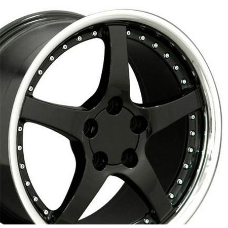 18 Inch Fits Chevy Camaro Corvette Pontiac Firebird C5 Deep Dish Style CV05 Gloss Black 18x9.5 Rim Hollander 5122