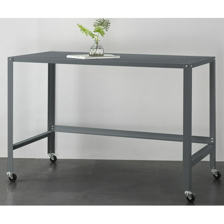 Mainstays Metal Console Rolling Desk, Multiple - Used Metal Desk