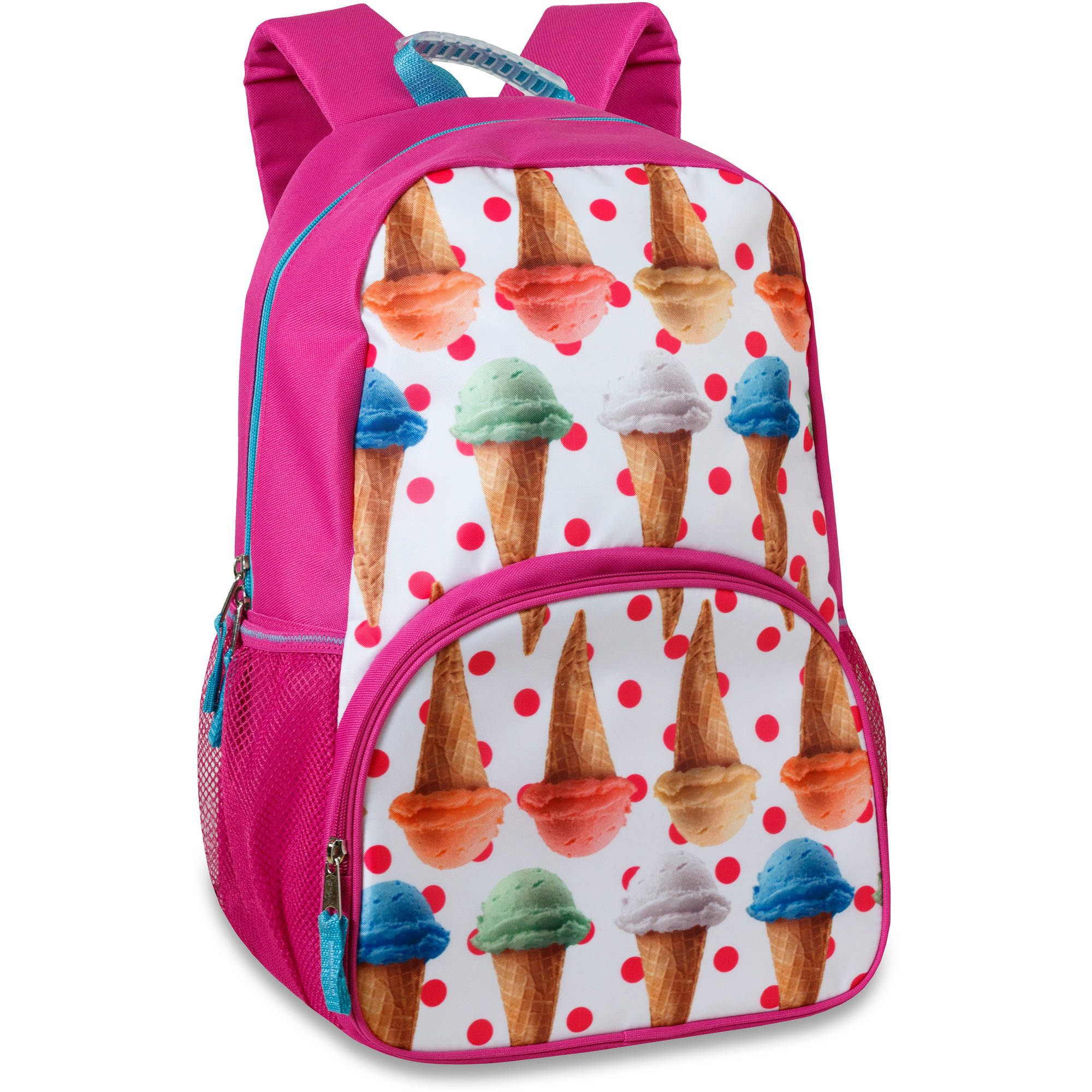 17.5 Inch Ice Cream Cones Photo Real Backpack