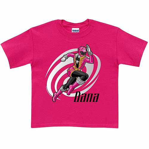 Personalized Power Rangers Super Megaforce Girls' Hot T-Shirt, Pink