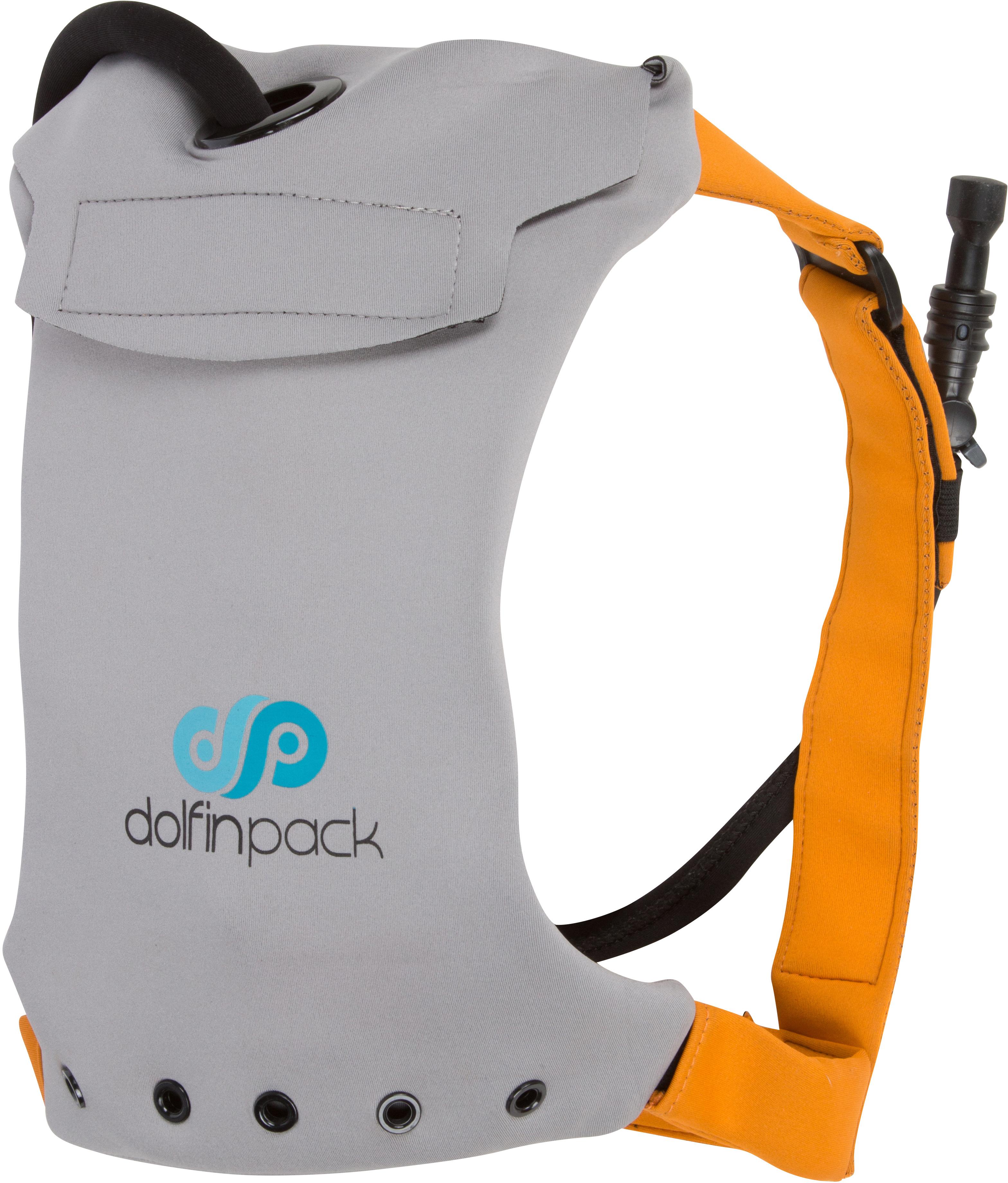 DolfinPack Lightweight, Form-fitting, Waterproof, Extreme Sports Hydration Pack Grey Burnt Orange by DolfinPack