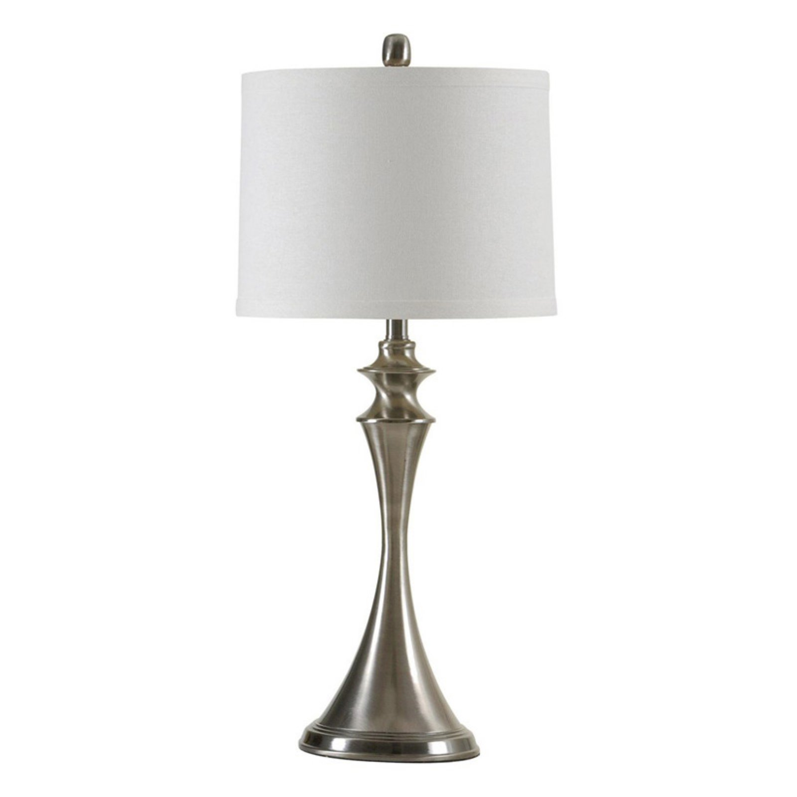 StyleCraft Hour Glass Black Brushed Steel Table Lamp   Walmart.com