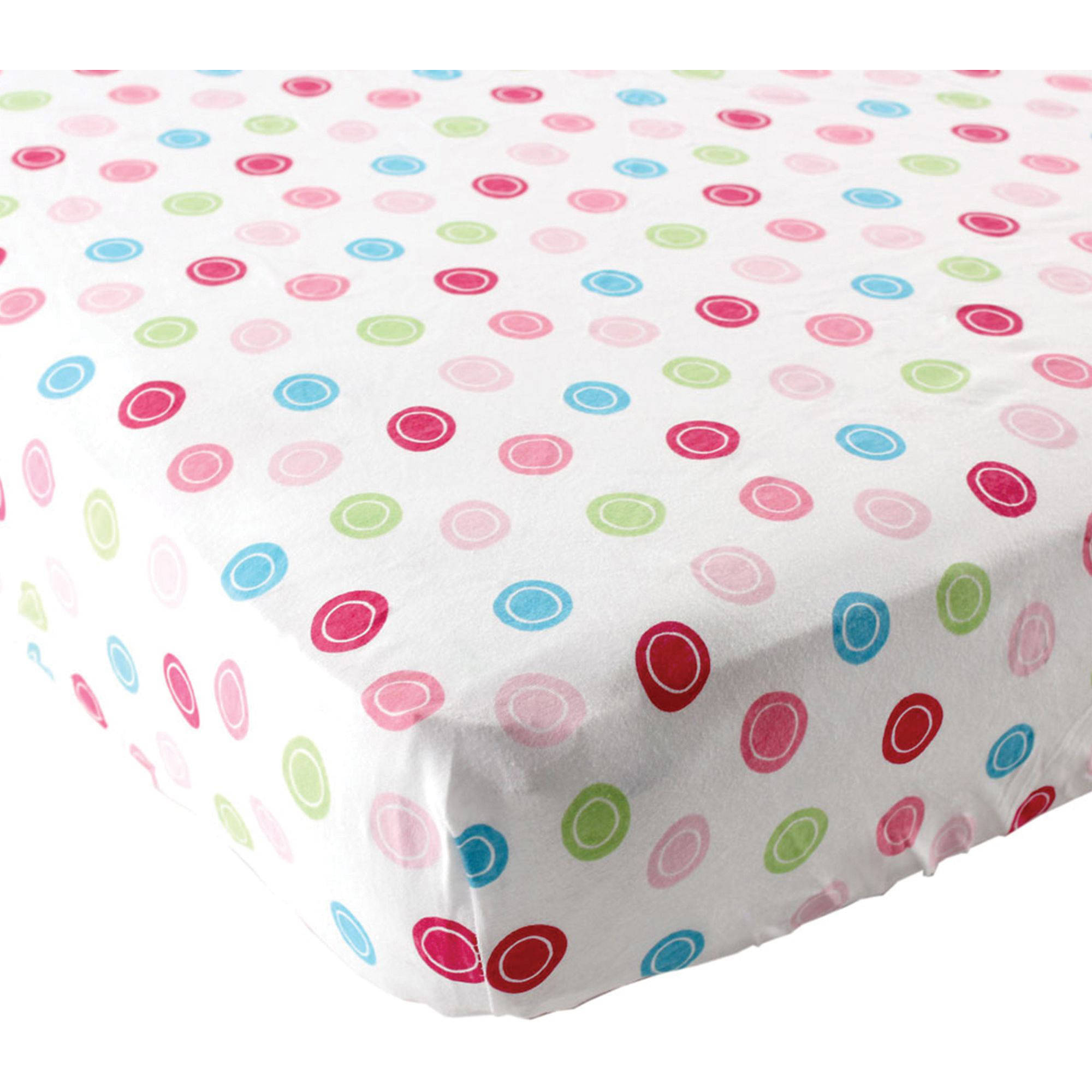 Luvable Friends Geometric Fitted Crib Sheet, Pink