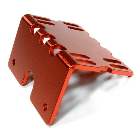 Integy RC Toy Model Hop-ups C26138RED Billet Machined Side ESC Mount Plate for Axial 1/10 SCX-10 Crawler