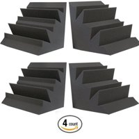 "4 PACK - Acoustic Foam Bass Trap Studio Soundproofing Corner Wall 12"" x 12"" x 12"""