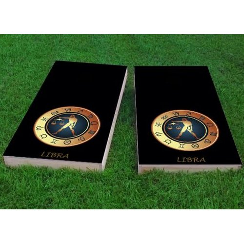Custom Cornhole Boards Zodiac Libra Themed Cornhole Game (Set of 2) by Custom Cornhole Boards