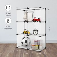 LANGRIA 24 pcs Storage Cubes Organizer, DIY Small Animal Cage for Rabbit, Guinea Pigs, Puppy Pet Products Portable Modular Organization System 6Cube