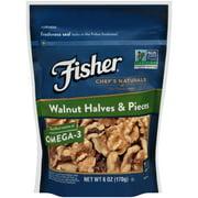 Fisher Chef's Naturals Walnut Halves & Pieces, 6 oz