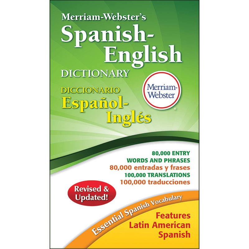 (3 Ea) Merriam Websters Spanish English Dictionary Paperback