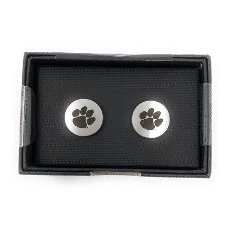 (Clemson University Tigers Cuff Links Silver Cufflink Set)