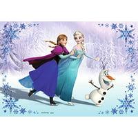 Disney Frozen Anna Elsa Olaf Snowflakes Edible Cake Topper Image