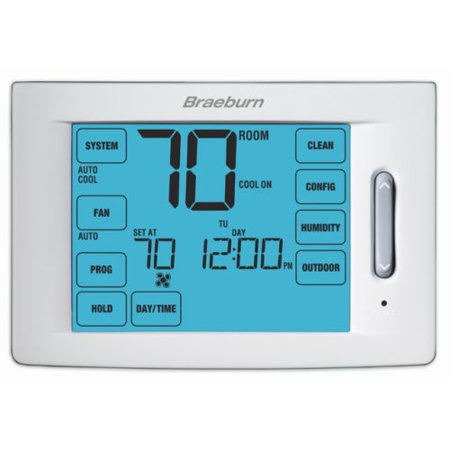 Braeburn- 6400 Touchscreen Hybrid Universal 7, 5-2 Day or Non-Programmable 4H / 2C w/Humidity Control (Pack of 6)
