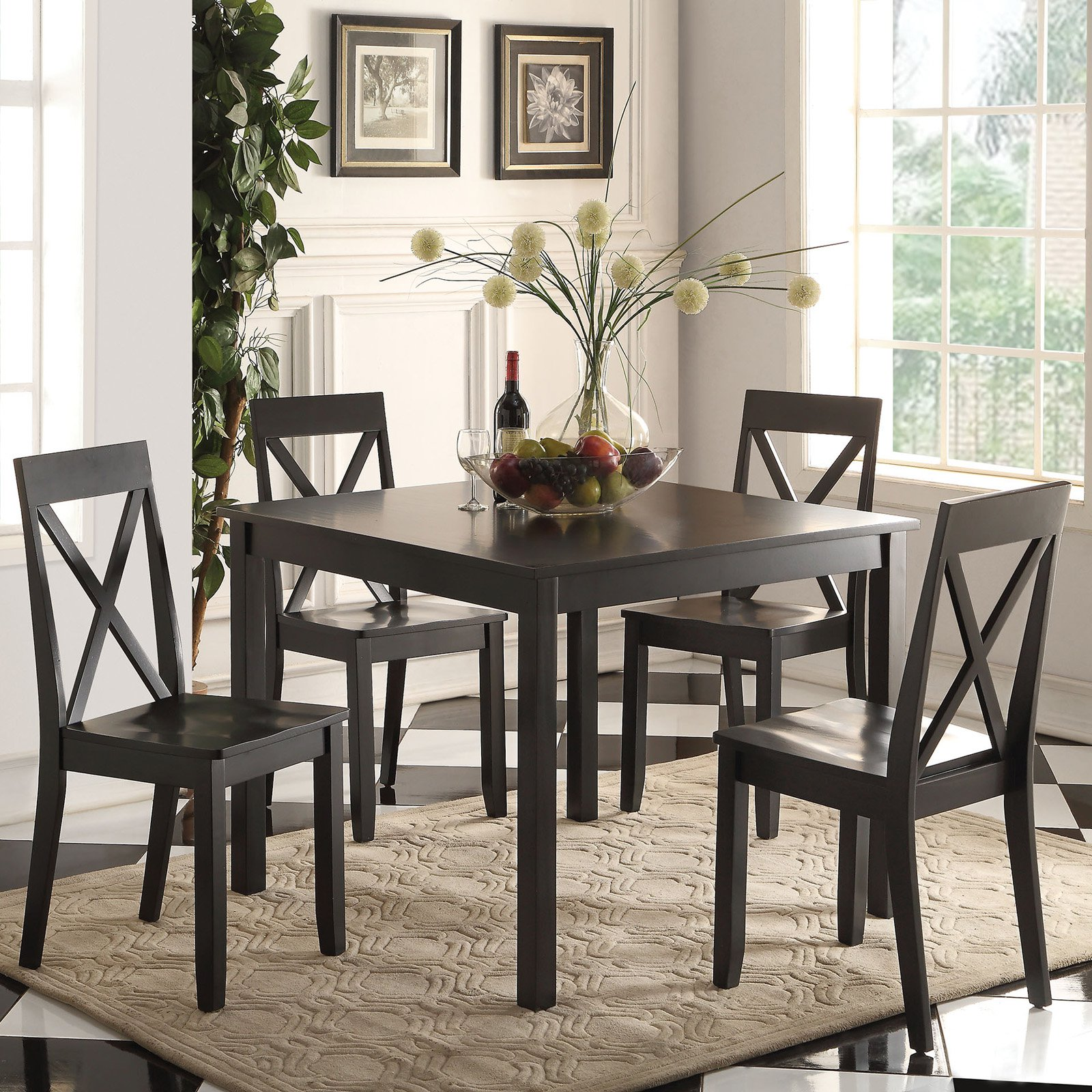 Acme Furniture Zlipury 5 Piece Rectangular Dining Table Set by Overstock