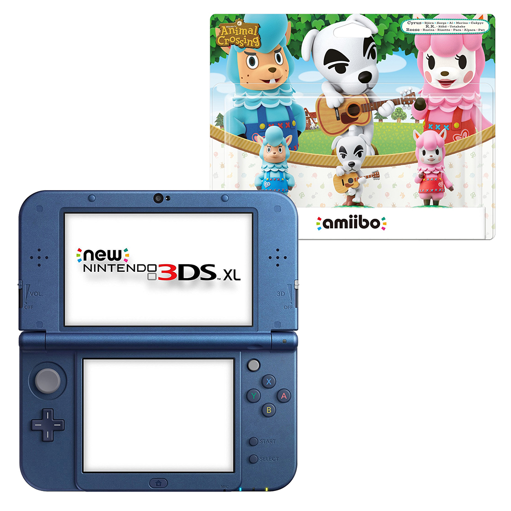 Nintendo Galaxy 3DS XL with Free Bonus Animal Crossing amiibo 3-pack