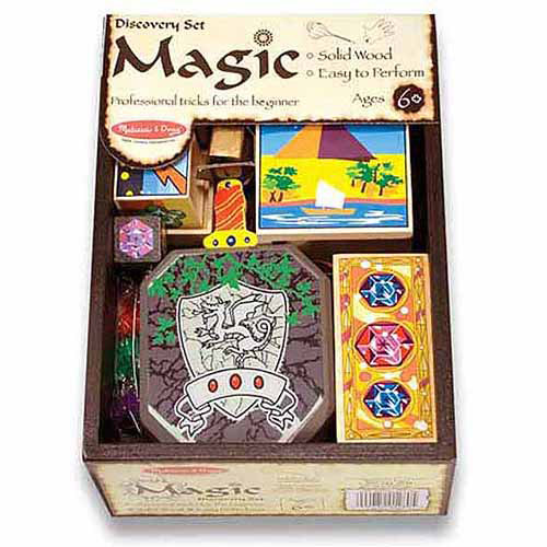 Melissa & Doug Discovery Magic Set With 4 Classic Tricks, Solid-Wood Construction
