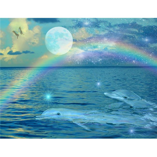 MGL Licensing MGL600972 Blue Mystic Dolphin Poster Print by Alixandra Mullins, 14 x 11 - image 1 of 1