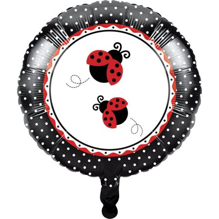 Creative Converting Ladybug Fancy Metallic Balloon 18