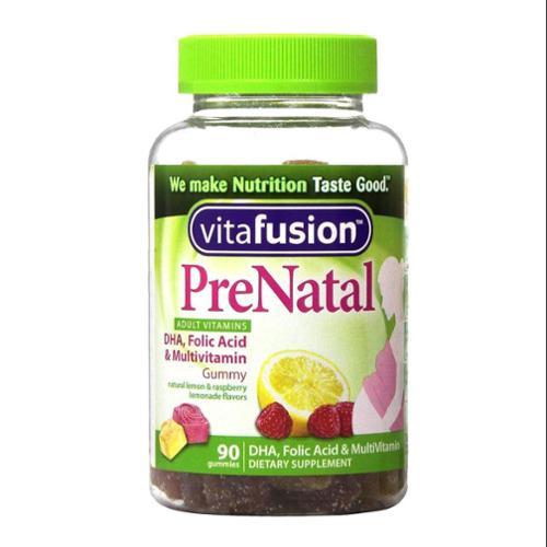 Vitafusion Pre Natal Gummy Vitamins Dietary Supplement, Lemon & Raspberry Lemonade Flavors 90 Each (Pack of 2)