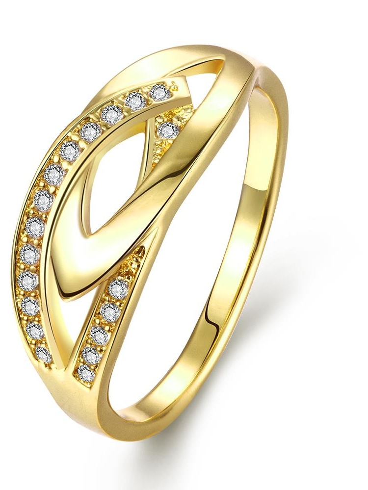 Aventura Jewellery Gold Plated Hollow Jewels Covering Ring Size 6