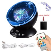 Ocean Wave Projector 12 Led Remote Control Undersea Lamp 7 Color Changing Music