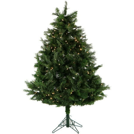 Fraser Hill Farm 5-Ft. Northern Cedar Teardrop Artificial Christmas Tree with Clear Smart String Lights and EZ (Best Way To Clear Cedar Trees)