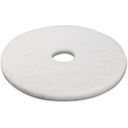 Boardwalk standard 17 floor polishing pads white 5 for 17 floor buffer pads