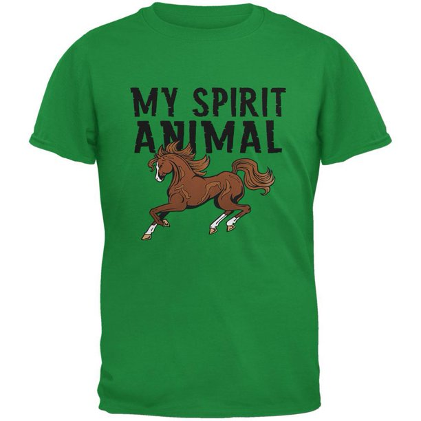 My Spirit Animal Horse Irish Green Youth T-Shirt - X-Large(18)