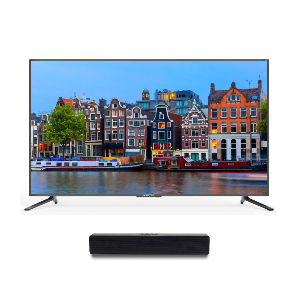 "Sceptre 65"" Class 4K (2160P) LED TV (U650CV-U) and Soundbar Bundle"