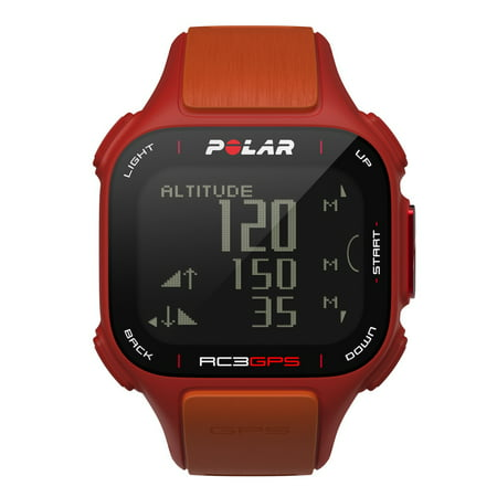 Polar 90047381 RC3 GPS Sports Watch Red/Orange