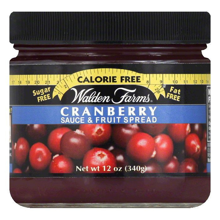 Walden Farms Cranberry Fruit Spread, 12 OZ (Pack of 6)