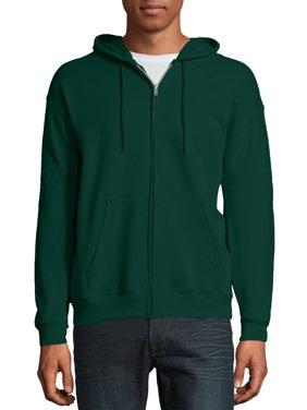 Hanes Men's and Big Men's Ecosmart Fleece Full Zip Hooded Jacket, up to Size 3XL