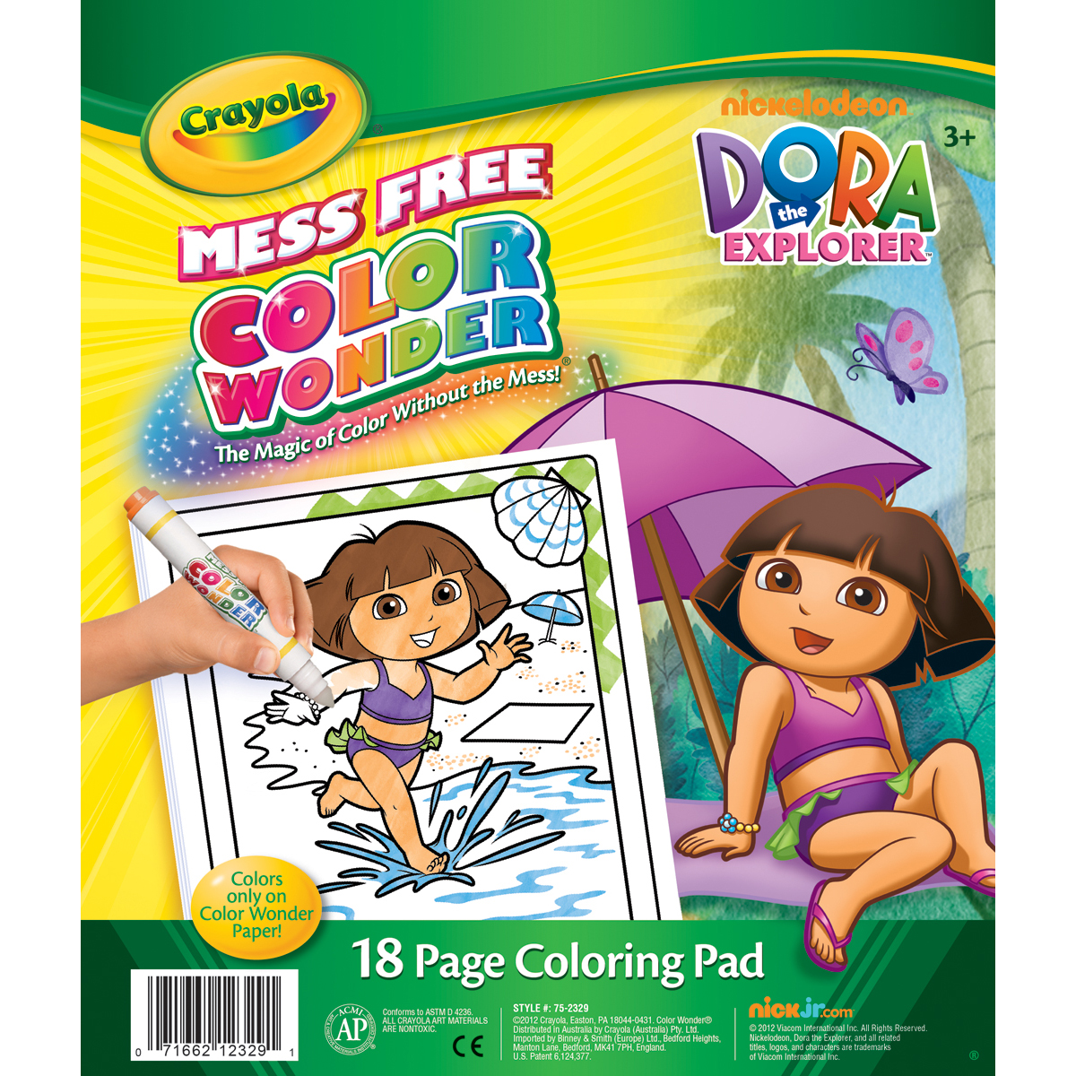 Crayola Color Wonder Coloring Pad - 18 Pages-Dora The Explorer, 18 Pages