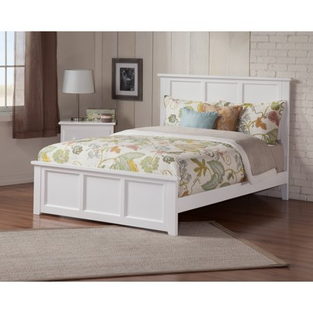 Atlantic Furniture Madison Queen Bed With Matching Foot Board In White