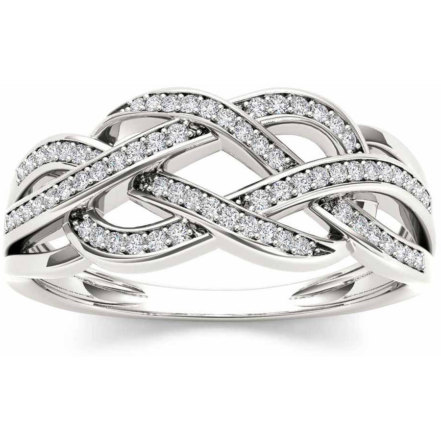 Imperial 1/5 Carat T.W. Diamond 10kt White Gold Fashion Ring