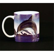 Euland China MA0-003D Set Of Two 12-Ounce Mugs - Night Dolphins