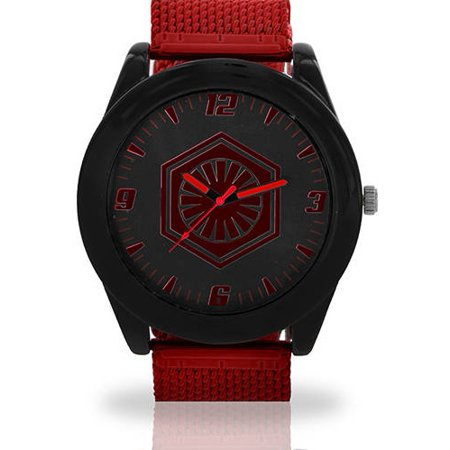 Mens Star Wars Watch (Printed Face Watch, Red Mesh)