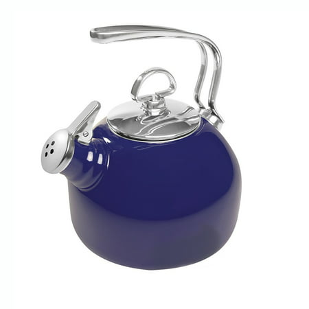 Chantal 1.8 Quart Enamel On Steel Classic Stove Whistling Teapot, Cobalt (Chantal Teapot)