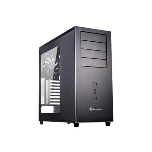 Silverstone Technology TJ04B-EW Temjin Mid Tower Computer PC Case with Side Window Panel Black by SilverStone Technology Co Ltd