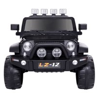 Kids Ride On Car Toy Jeep Rechargeable Battery 4 mph Remote Control Black