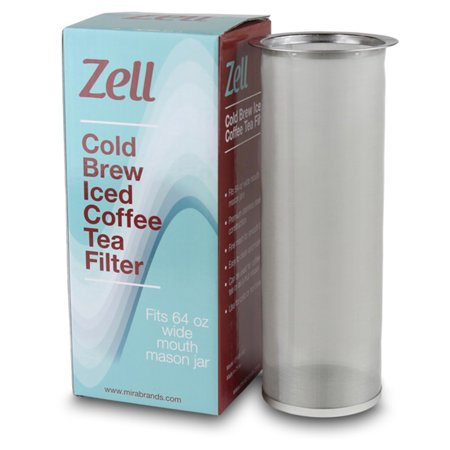 Zell Cold Brew Coffee, Iced Coffee and Iced Tea Maker Infuser | Durable