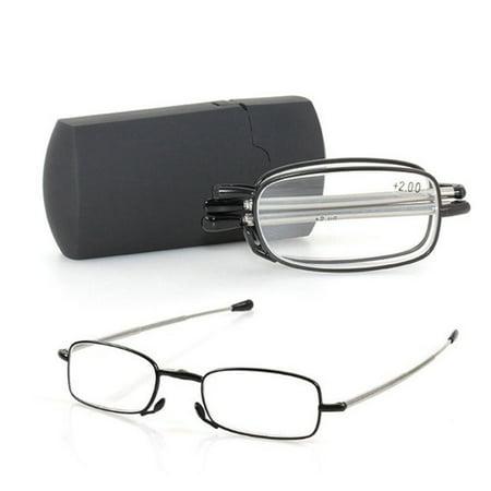 Men Women Folding Metal Reading Glasses Rotation Eyeglass +1.0 +1.5 +2.0 +2.5 +3.0 +3.5