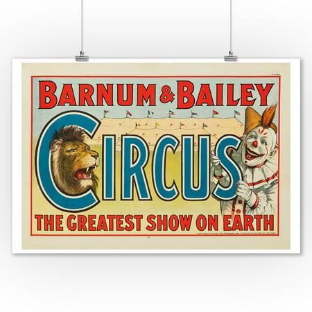 Barnum & Bailey Circus Vintage Poster USA c. 1916 (9x12 Art Print, Wall Decor Travel Poster) Barnum Bailey Circus Posters
