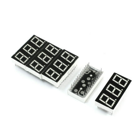 Unique Bargains 5Pcs Common Anode 3 Bit 7 Segment Green  Display Digital Tube 38mmx19mm
