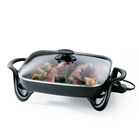 National Presto Industries 16  Electric Skillet W Glass 06852