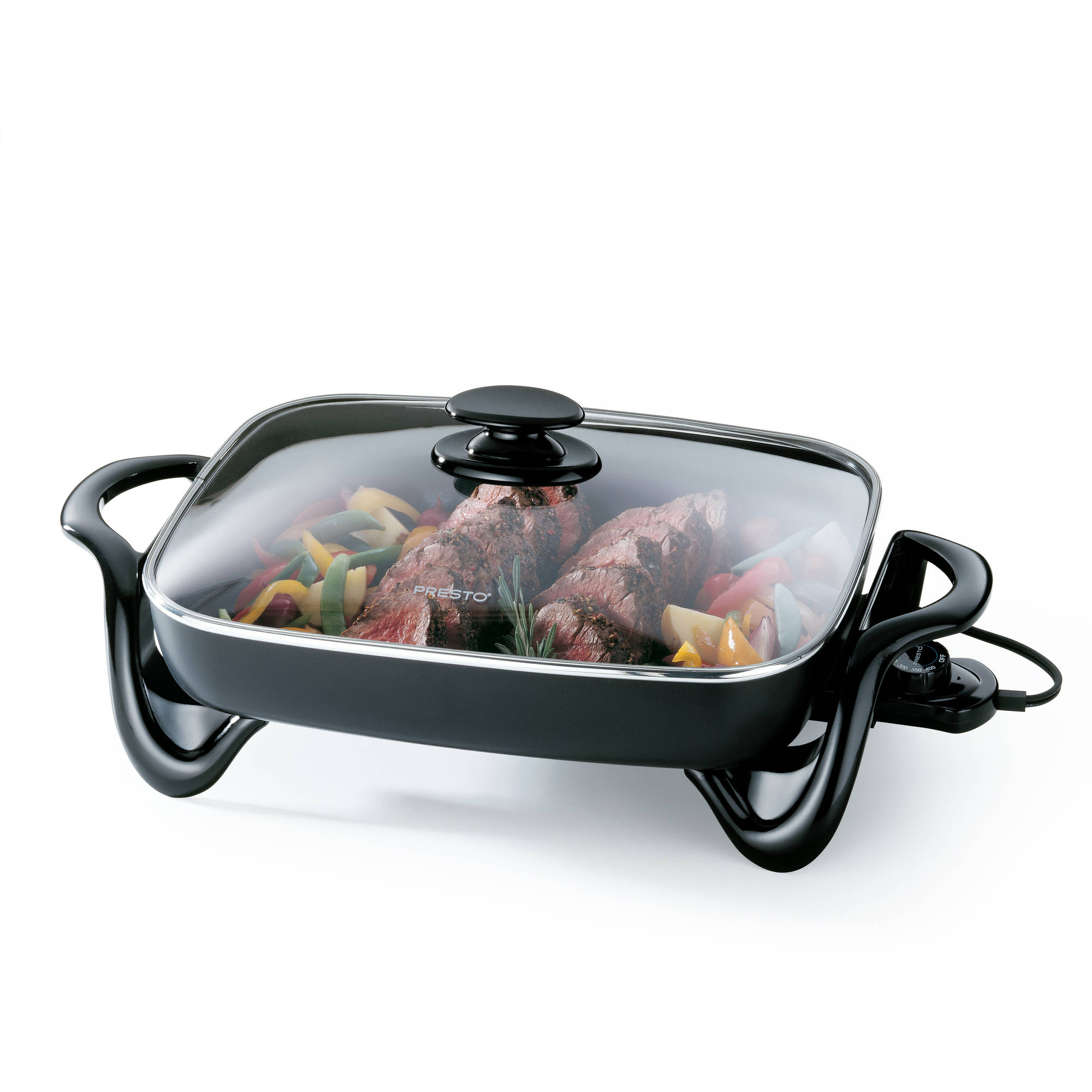 "Presto 16"" Electric Skillet With Glass Cover, 06852"