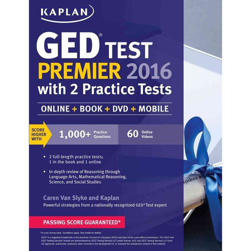 Kaplan GED Test Premier 2016 with 2 Practice Tests: Online Acess   Videos   Mobile Associated with Book