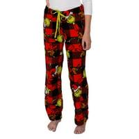 Dr. Seuss Women's The Grinch And Max Fleece Plush Pajama Pants